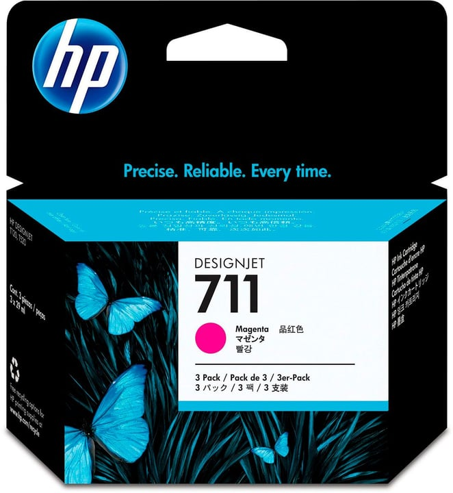 711 CZ135A Cartouche d'encre pack de 3 magenta HP 795849800000 Photo no. 1