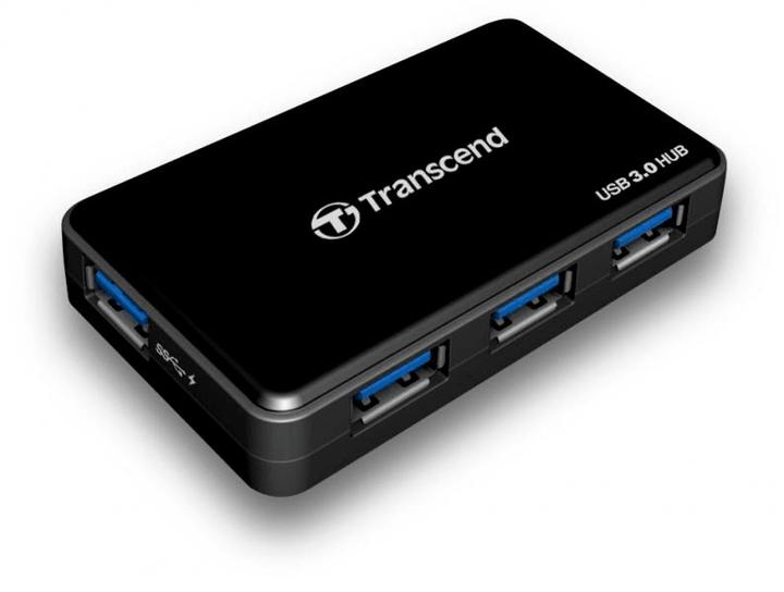 USB 3.0 4-Port Hub schwarz Transcend 785300126725 Bild Nr. 1