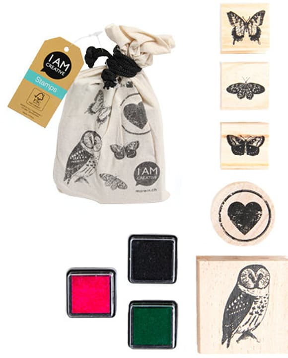 Stamps in a bag, 5pcs, Animal I AM CREATIVE 665541400010 Motif ANIMAL Photo no. 1