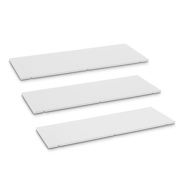 SEVEN Tablar 3er-Set 90cm Edition Interio 362019951101 Grösse B: 90.0 cm x T: 1.4 cm x H: 35.5 cm Farbe Weiss Bild Nr. 1