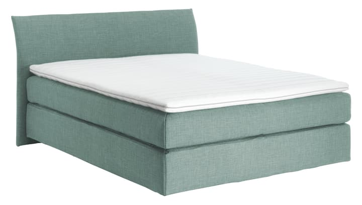 NAVIER Lit Boxspring 403482200000 Couleur Bleu clair Dimensions L: 160.0 cm x P: 200.0 cm Photo no. 1