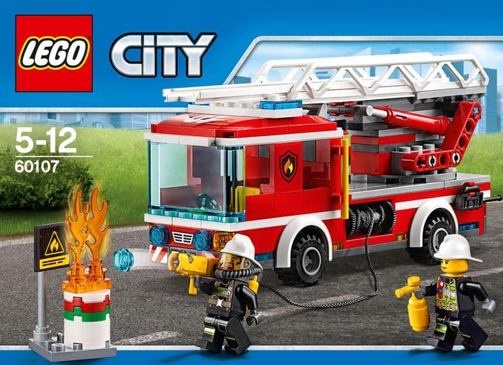 LEGO City Feuerwehrfahrzeug mit fahrbarer Leiter 60107 747881800000 Bild Nr. 1