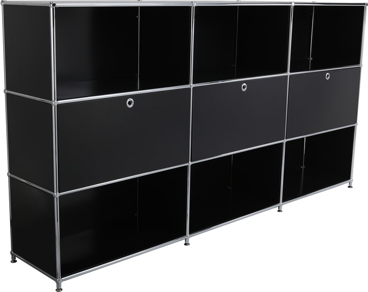 FLEXCUBE Buffet haut 401809800020 Dimensions L: 227.0 cm x P: 40.0 cm x H: 118.0 cm Couleur Noir Photo no. 1