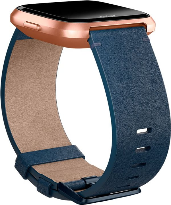 Versa Cinturino in pelle Horween Midnight Blue Small Fitbit 785300134741 N. figura 1