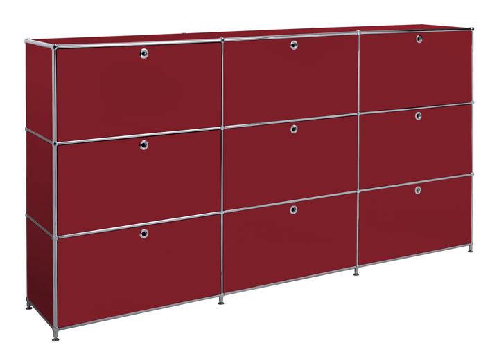 FLEXCUBE Buffet alto 401815030330 Dimensioni L: 227.0 cm x P: 40.0 cm x A: 118.0 cm Colore Rosso N. figura 1