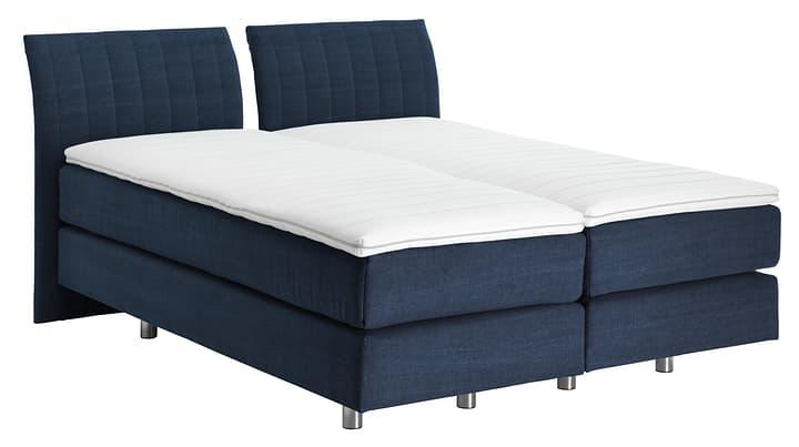 NAVIER Lit Boxspring 403483800000 Couleur Bleu marine Dimensions L: 160.0 cm x P: 200.0 cm Photo no. 1