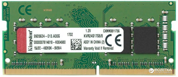 Value 1x 8 GB DDR4 2400 MHz Mémoire Kingston 785300143979 Photo no. 1