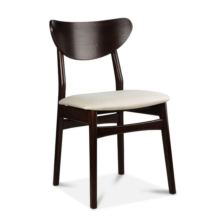 MAXWELL Chaise 366029085102 Dimensions L: 44.0 cm x P: 41.0 cm x H: 82.0 cm Couleur Noyer Photo no. 1