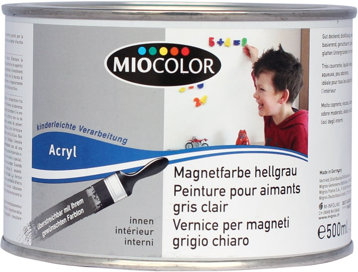 Magnetfarbe Miocolor 660563100000 Farbe Hellgrau Inhalt 0.5 l Bild Nr. 1
