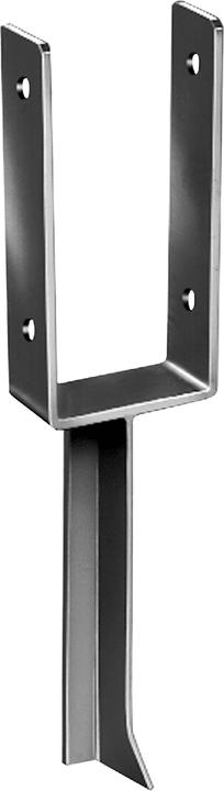 Staffa a U a pavimento per pali da 9 cm (forma a T) 647049700000 N. figura 1