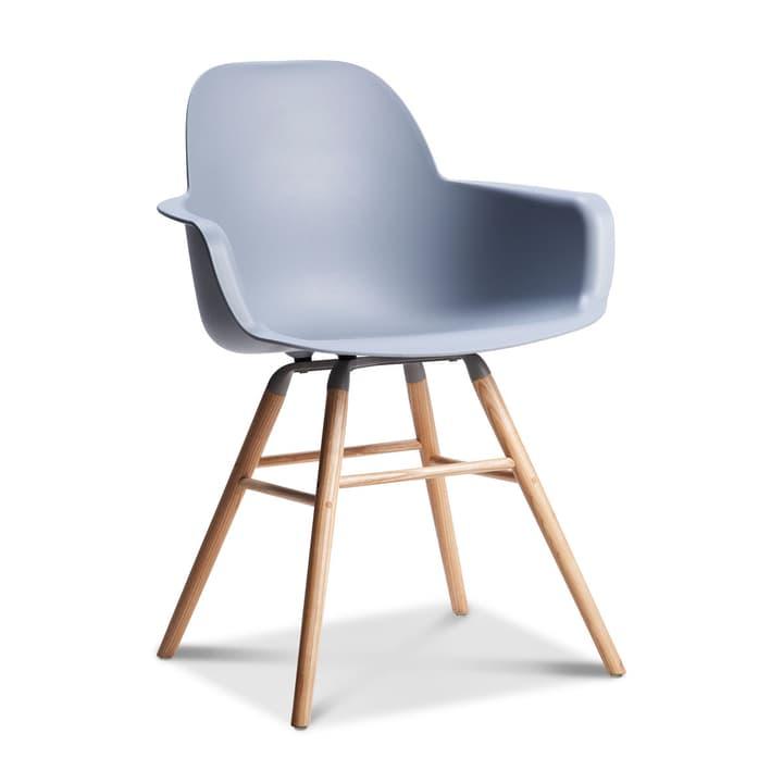 ALBERT Chaise avec accoudoirs 366026252802 Dimensions L: 55.0 cm x P: 59.0 cm x H: 81.5 cm Couleur Gris clair Photo no. 1