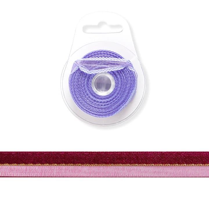 Organzaband mit Goldfaden I AM CREATIVE 665308200000 Farbe Violett Bild Nr. 1