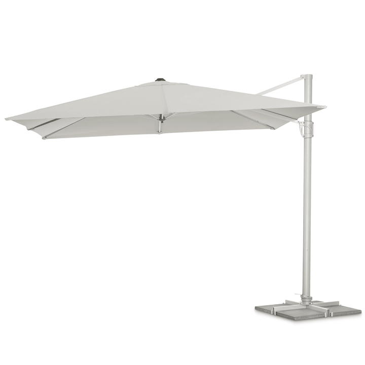SUNFLEX Parasol à bras libre 368005358102 Couleur Gris clair Dimensions L: 300.0 cm x P: 300.0 cm Photo no. 1