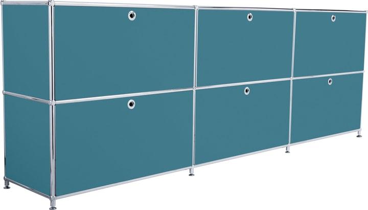 FLEXCUBE Buffet 401809700066 Dimensioni L: 227.0 cm x P: 40.0 cm x A: 80.5 cm Colore Petrolio N. figura 1
