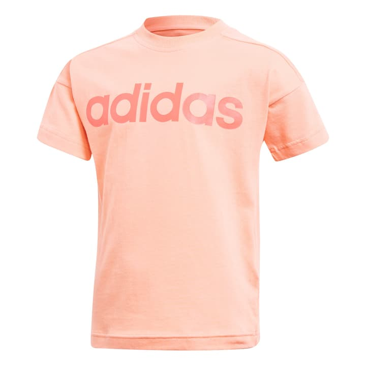 Little Kids Linear Tee Maillot pour fille Adidas 472337009857 Couleur corail Taille 98 Photo no. 1
