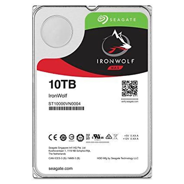 "IronWolf 10TB disque dur interne SATA 3.5"" HDD NAS Seagate 785300124633 Photo no. 1"