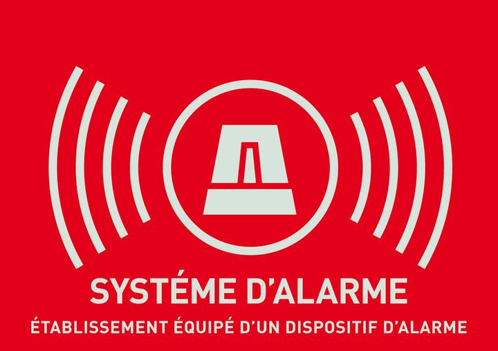 Warnaufkleber Alarm (französisch) Abus 614131700000 Bild Nr. 1