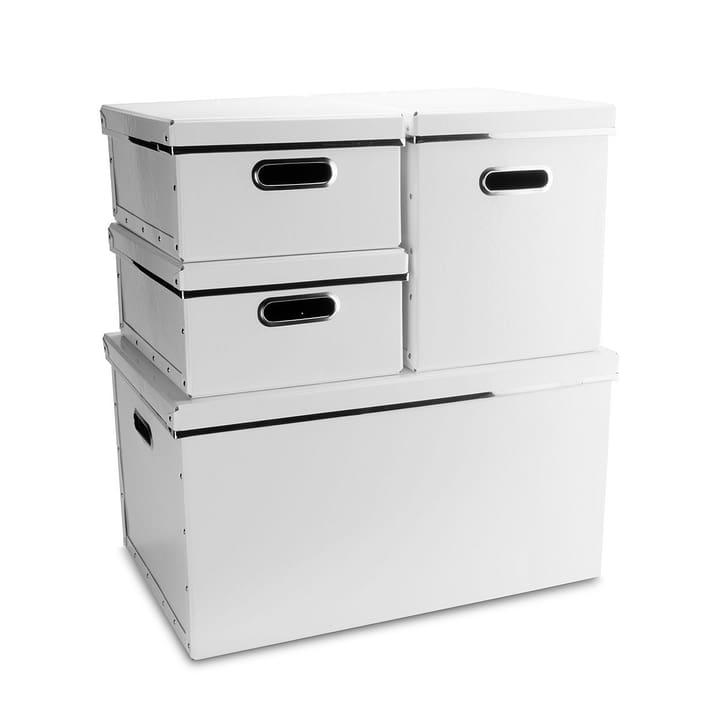 BIGSO Boîte avec poignées découpées 386018415407 Dimensions L: 50.0 cm x P: 33.0 cm x H: 27.5 cm Couleur Blanc Photo no. 1