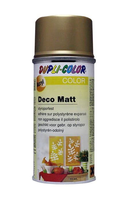 Peinture en aérosol deco mat Dupli-Color 664810025001 Couleur Bronze d'or Photo no. 1