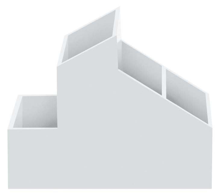 Skyline white 1tlg Systeme de rangement spirella 675270400000 Photo no. 1