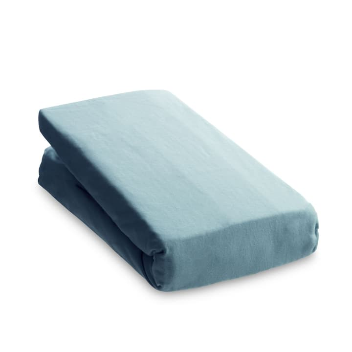 JERSEY Fixleintuch 376010923502 Grösse L: 200.0 cm x B: 160.0 cm Farbe Hellblau Bild Nr. 1