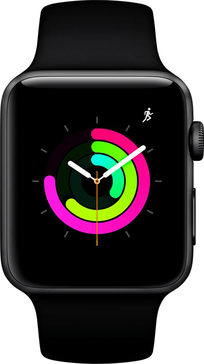 Watch Series 3 GPS 42mm Space Grey Aluminium Case with Black Sport Band Smartwatch Apple 785300139130 Photo no. 1