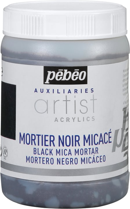 Pébéo Acrylic Mortier noir micacé Pebeo 663509220000 Photo no. 1