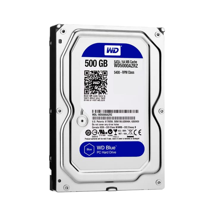 "Blue 500MB SATA 3.5"" 5400 Western Digital 785300126644"
