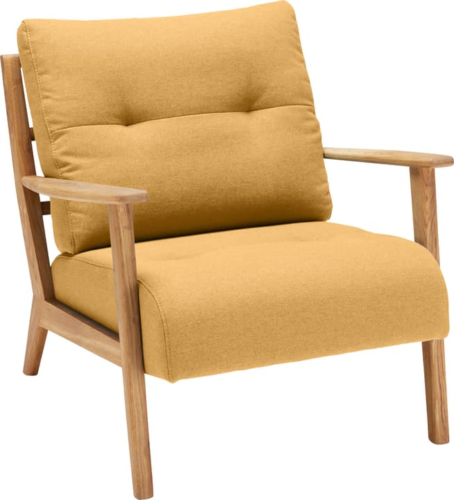 FAUST Sessel 402465200150 Farbe Gelb Grösse B: 76.0 cm x T: 80.0 cm x H: 78.0 cm Bild Nr. 1