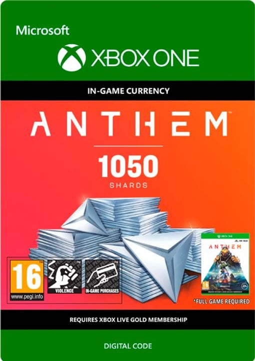 Xbox One - Anthem: 1050 Shards Pack Download (ESD) 785300142886 N. figura 1