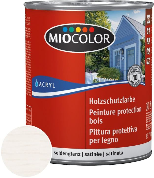 Acryl Vernice trasparente per legno Bianco calce 750 ml Miocolor 661119600000 Colore Bianco calce Contenuto 750.0 ml N. figura 1