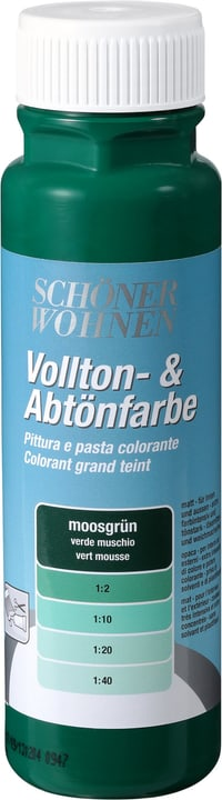Pittura pien e per digradazione Verde muschio 250 ml Schöner Wohnen 660901400000 Colore Verde muschio Contenuto 250.0 ml N. figura 1