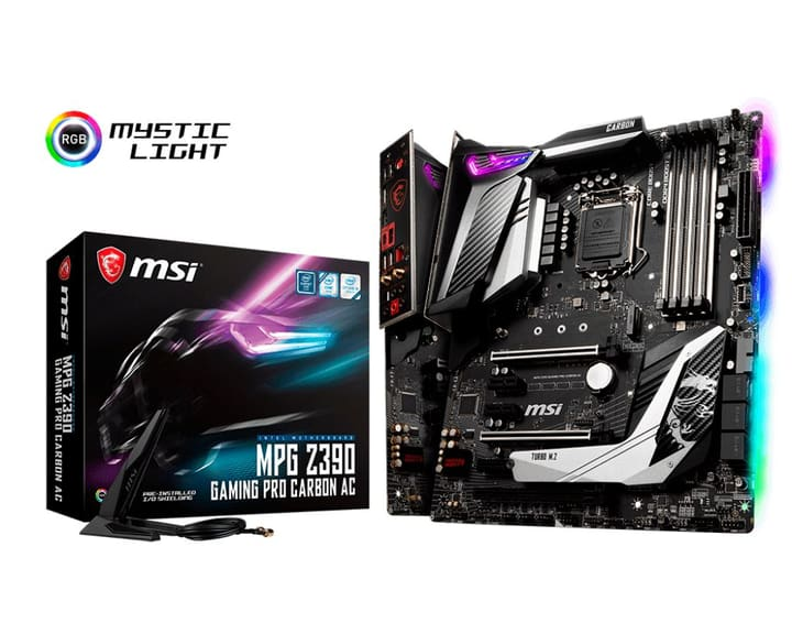 MPG Z390 GAMING PRO CARBON AC Mainboard MSI 785300139914 Photo no. 1