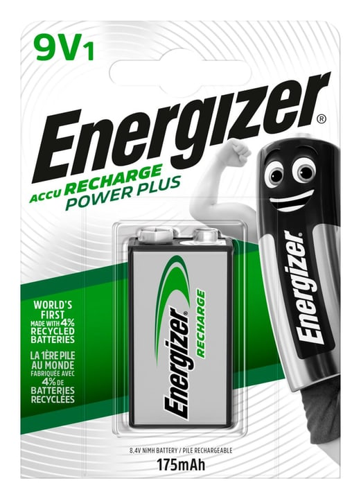 Power Plus 9V 175mAh (1Stk.) Akku Batterie Energizer 704732300000 Bild Nr. 1