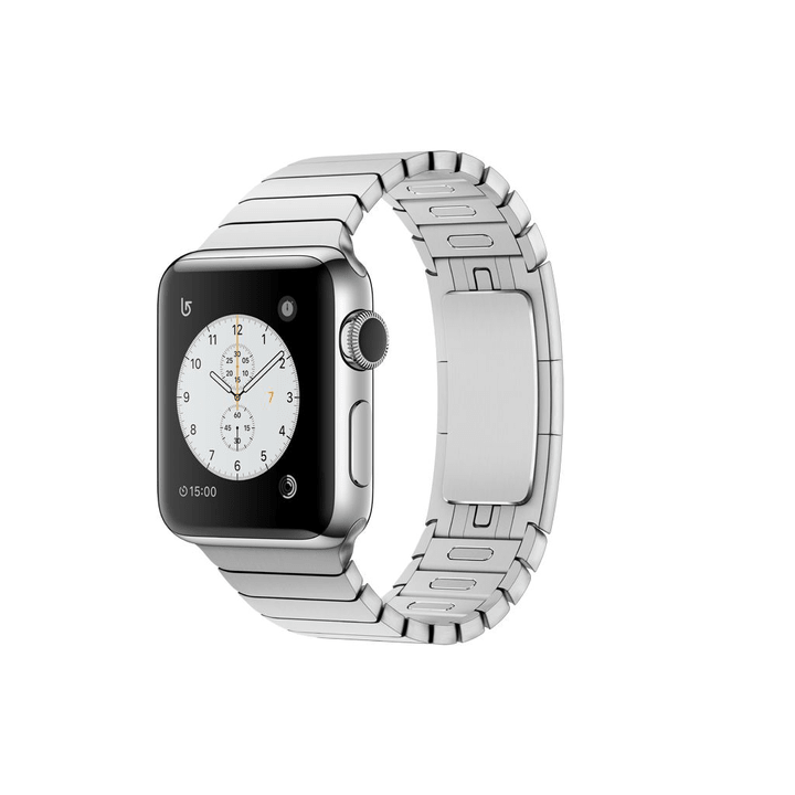 Watch Series 2, 38mm Boîtier en acier inoxydable avec Bracelet à maillons Apple 798146900000 Photo no. 1
