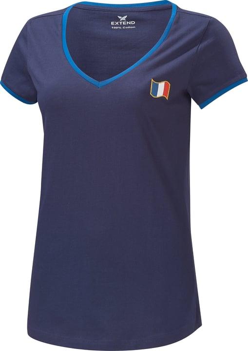 Frankreich Fussball-Damen-Fan-Shirt Extend 498284400743 Farbe marine Grösse XXL Bild-Nr. 1