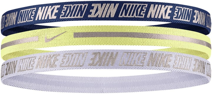 METALLIC HAIRBAND 3 PACK Bandeaux métallique Nike 464905499922 Colore blu scuro Taglie one size N. figura 1