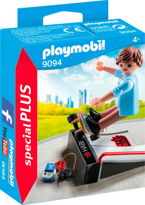 Playmobil Special Plus Skater con rampa 9094 746080900000 N. figura 1