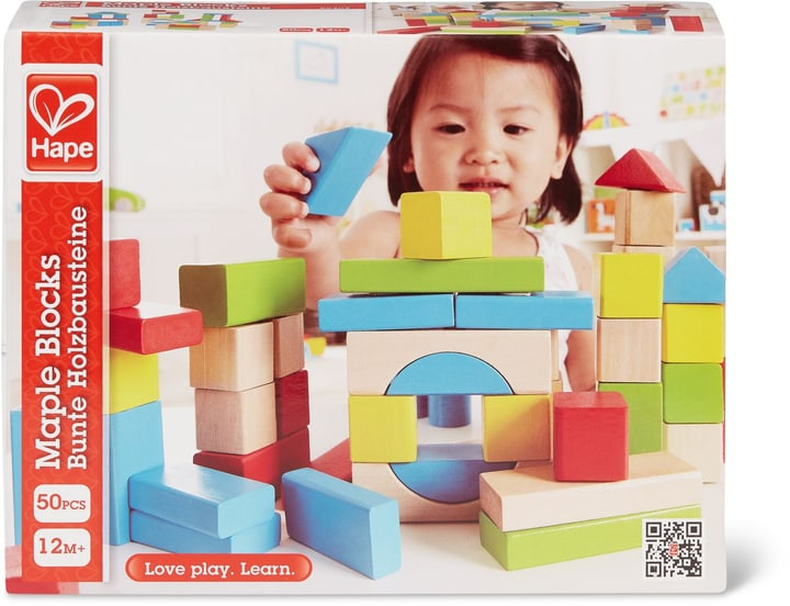 Hape 50 pièces Blocs D'Érable 747326500000 Photo no. 1