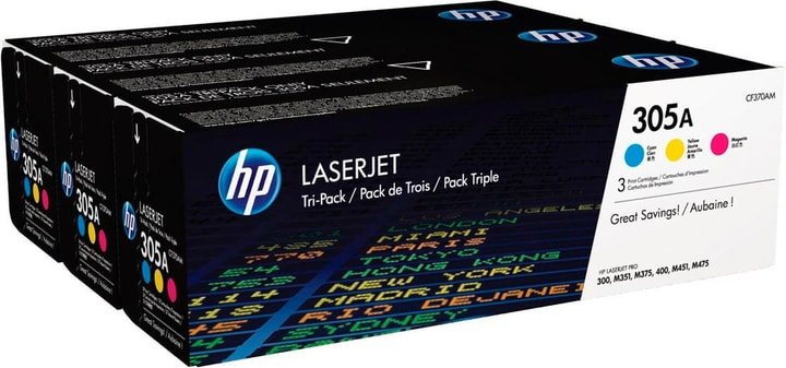 305A Toner Trio Pack (CF370AM) HP 798521800000