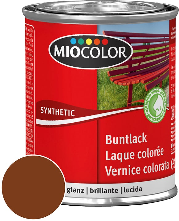 Synthetic Vernice colorata lucida Marrone noce 375 ml Miocolor 661426800000 Contenuto 375.0 ml Colore Marrone noce N. figura 1