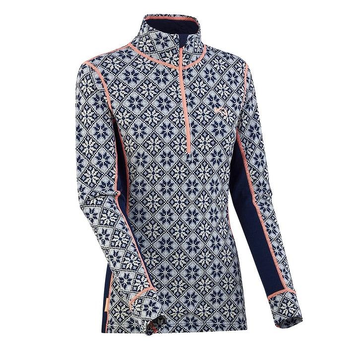 Rose T-shirt à manches longues pour femme Kari Traa 477083000343 Couleur bleu marine Taille S Photo no. 1