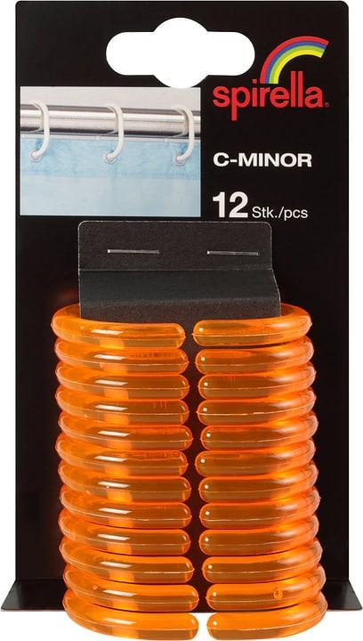 Anneaux de rideau de douche C-Minor spirella 675024700000 Couleur Orange Taille 4.7x4cm Photo no. 1