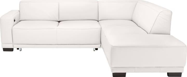 KRÜGER Canapé d'angle 405722600000 Dimensions L: 266.0 cm x P: 220.0 cm x H: 77.0 cm Couleur Blanc Photo no. 1