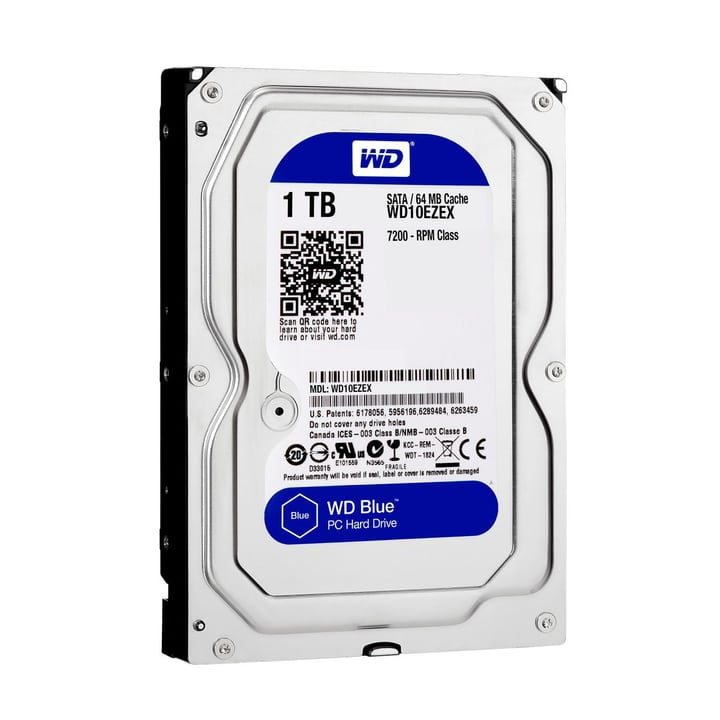 "Blue 1To SATA 3.5"" 7200 Disque Dur Interne HDD Western Digital 785300124383 Photo no. 1"