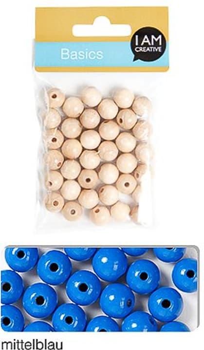 Perla di legna 8mm I AM CREATIVE 665555400050 Colore Blu medio N. figura 1