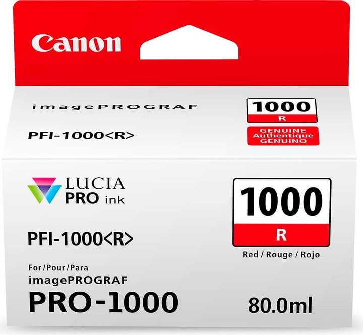 PFI-1000 Cartouche d'encre rouge Canon 785300126461 Photo no. 1