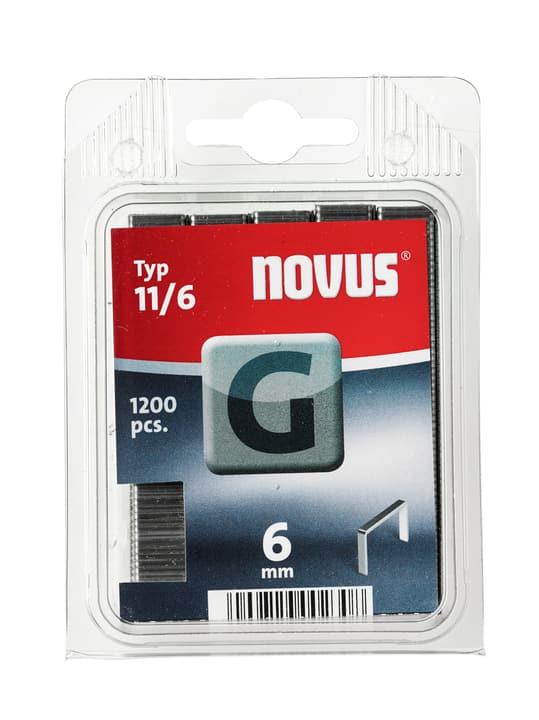 Graffe in filo basso G Typ 11/6 NOVUS 601257700000 Taglio 6 mm / 1'200x N. figura 1