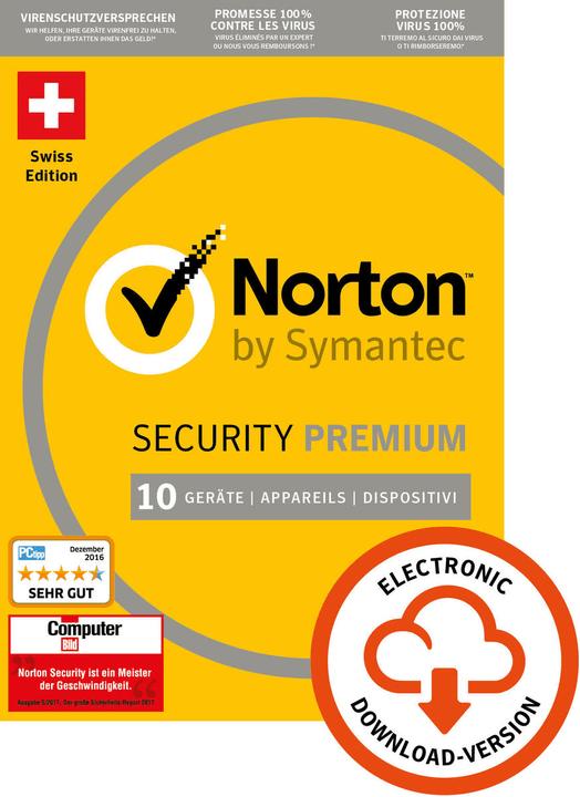 Norton Security Premium 3.0 25GB 10 User 1 Year PC/Mac/Andorid/iOS Digital (ESD) Norton 785300133666 Bild Nr. 1