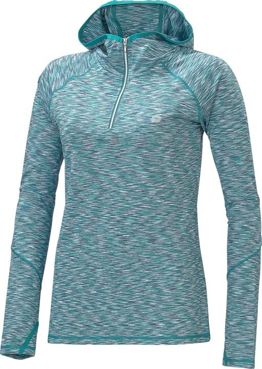 Pull à capuche pour femme Perform 470149304015 Couleur émeraude Taille 40 Photo no. 1